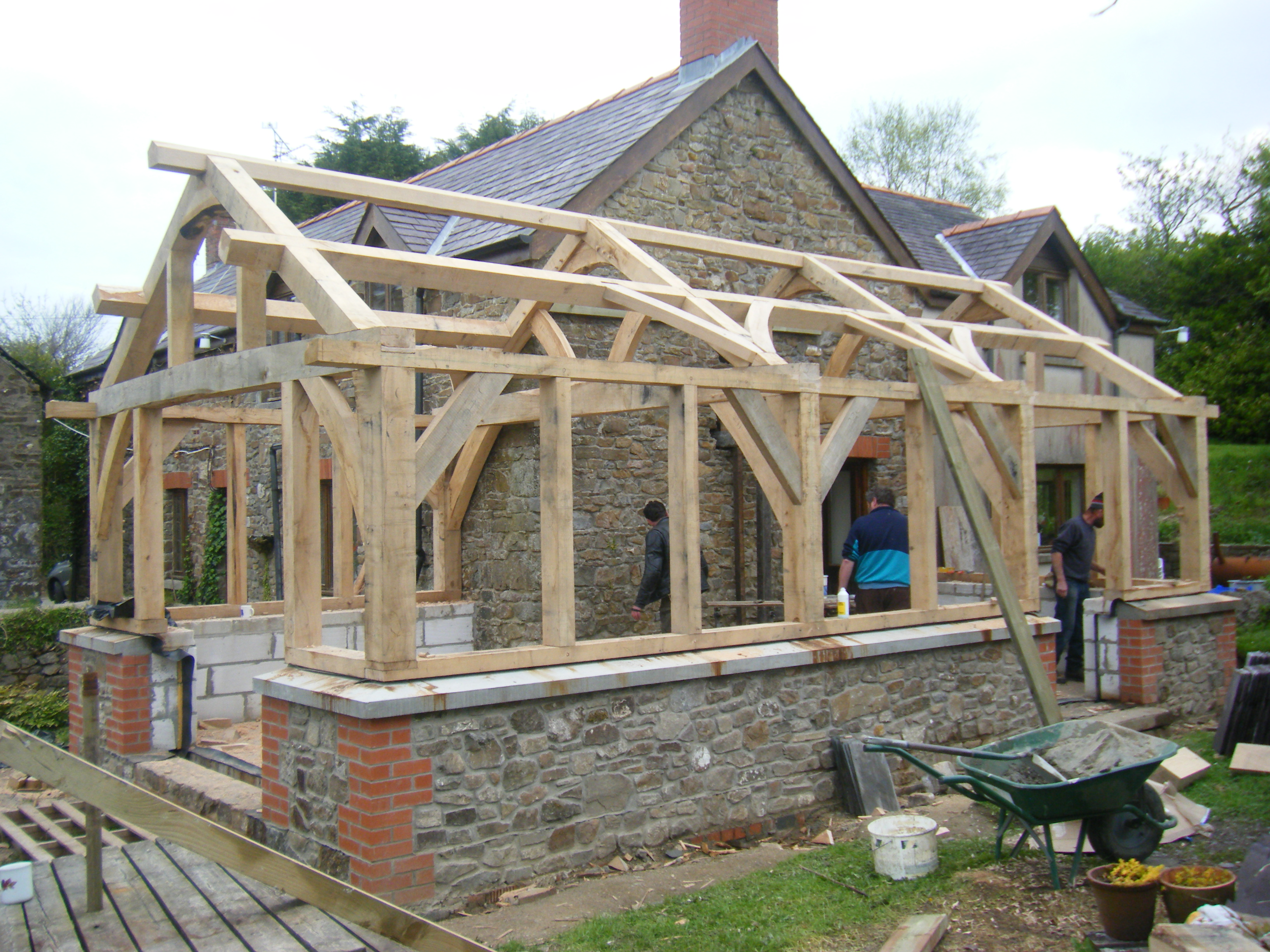 Timber framing gregors wood yard for House plans timber frame construction