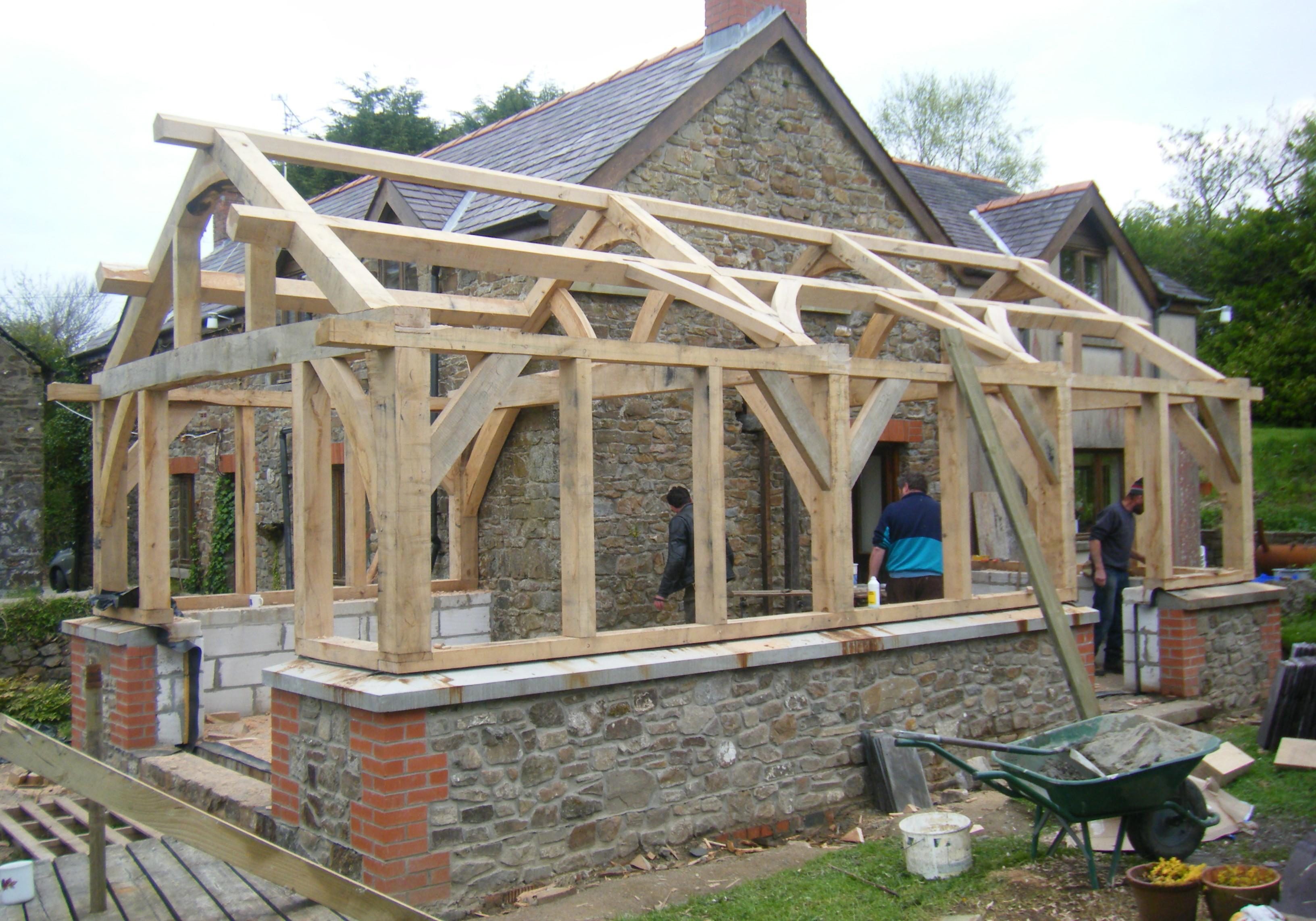 Green Oak Frames Gregors Wood Yard